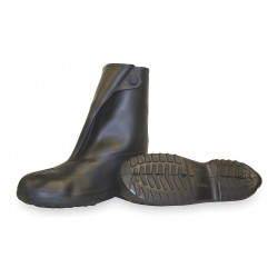 Tingley Rubber - 1400 - 10H Men's Overboots, Plain Toe Type, Natural Rubber Upper Material, Black, Size L