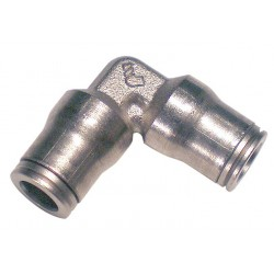 Legris - 3602 06 00 - Nickel Plated Brass Union Elbow, 90, 1/4 Tube Size