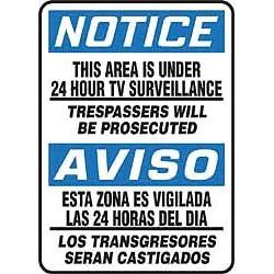 Accuform Signs - MSAD805VP - Notc Bil This Area Under 14x10, Ea