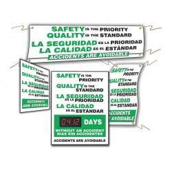 Accuform Signs - SBMSK434 - Safety Reminder Sign, Bilingual, 28 x 20, 1 EA