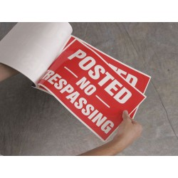 Accuform Signs - MTMP101 - Road Traffic Control, Danger, Cardstock, 10 x 14, Surface, Not Retroreflective