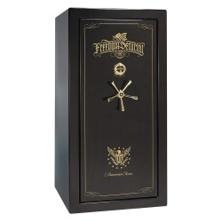 Liberty Safe - AS25-BKG-B - Gun Safe, 735 lb. Net Weight, 1-1/2 hr. Fire Rating, Combination/Key Lock Style