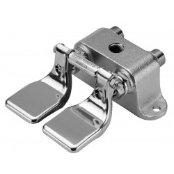 Columbia Sanitary Products - 101L - Brass and Stainless Steel Double Foot Pedal Valve For Use With OEM