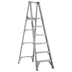 Louisville Ladder - AP1006 - Aluminum Platform Stepladder, 7 ft. 7 Ladder Height, 5 ft. 8 Platform Height, 300 lb.