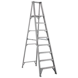 Louisville Ladder - AP1008 - Aluminum Platform Stepladder, 9 ft. 6 Ladder Height, 7 ft. 7 Platform Height, 300 lb.