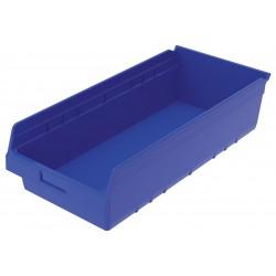 Akro-Mils / Myers Industries - 30014BLUE - Shelf Bin, Blue, 6H x 23-5/8L x 11-1/8W, 1EA