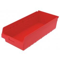 Akro-Mils / Myers Industries - 30014RED - Shelf Bin, Red, 6H x 23-5/8L x 11-1/8W, 1EA