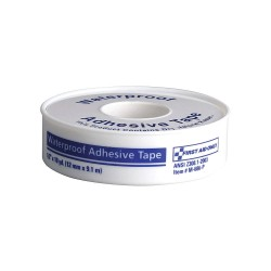 First Aid Only - M686-PGR - Waterproof Tape, White, WP1/2 in W, 10 inL