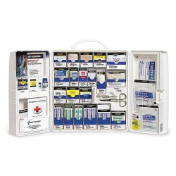 First Aid Only - 1001-FAE-0103GR - First Aid Kit, Cabinet, Plastic Case Material, General Purpose, 25 People Served Per Kit