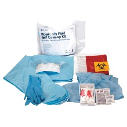 First Aid Only - 746003GR - Bloodborne Pathogen Bodily Fluid Kit, Plastic Bag, Blue, 1 EA