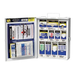 First Aid Only - 1050-FAE-0103GR - First Aid Kit, Kit, Metal Case Material, General Purpose, 25 People Served Per Kit