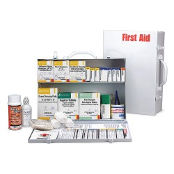 First Aid Only - 245-O/FAOGR - First Aid Kit, Cabinet, Metal Case Material, General Purpose, 75 People Served Per Kit