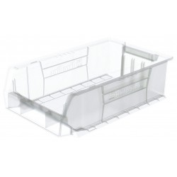 Akro-Mils / Myers Industries - 30280SCLAR - Hopper Bin, Clear, 6H x 20L x 12-3/8W, 1EA