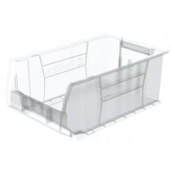 Akro-Mils / Myers Industries - 30281SCLAR - Hopper Bin, Clear, 8H x 20L x 12-3/8W, 1EA