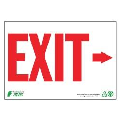 Zing Enterprises - 1081G - Exit and Entrance, Plastic, 7 x 10, Surface