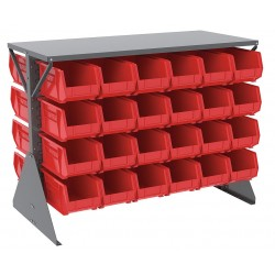 Akro-Mils / Myers Industries - 30606GY240R - 52-5/8 x 27 x 40 Louvered Floor Rack with 1000 lb. Load Capacity, Gray