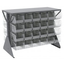 Akro-Mils / Myers Industries - 30606GY240SC - 52-5/8 x 27 x 40 Louvered Floor Rack with 1000 lb. Load Capacity, Gray