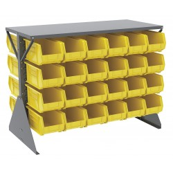 Akro-Mils / Myers Industries - 30606GY240Y - 52-5/8 x 27 x 40 Louvered Floor Rack with 1000 lb. Load Capacity, Gray