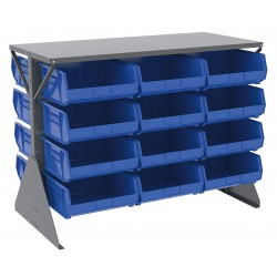 Akro-Mils / Myers Industries - 30606GY250B - 52-5/8 x 27 x 40 Louvered Floor Rack with 1000 lb. Load Capacity, Gray