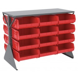 Akro-Mils / Myers Industries - 30606GY250R - 52-5/8 x 27 x 40 Louvered Floor Rack with 1000 lb. Load Capacity, Gray