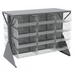 Akro-Mils / Myers Industries - 30606GY250SC - 52-5/8 x 27 x 40 Louvered Floor Rack with 1000 lb. Load Capacity, Gray