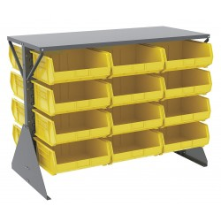 Akro-Mils / Myers Industries - 30606GY250Y - 52-5/8 x 27 x 40 Louvered Floor Rack with 1000 lb. Load Capacity, Gray