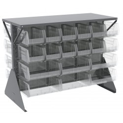 Akro-Mils / Myers Industries - 30606GYASSTSC - 52-5/8 x 27 x 40 Louvered Floor Rack with 1000 lb. Load Capacity, Gray
