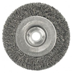 Weiler - 00145 - Arbor Hole Wire Wheel Brush, Crimped Wire, 4 Brush Dia.