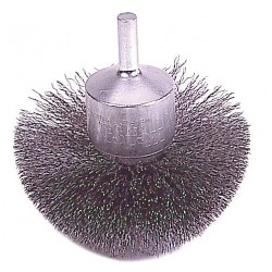 Weiler - 10134 - 3 Crimped Wire End Brush with Carbon Steel Fill Material and 0.035 Wire Dia.