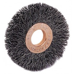 Weiler - 15523 - Arbor Hole Wire Wheel Brush, Crimped Wire, 2-1/2 Brush Dia.