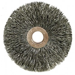 Weiler - 16461 - Arbor Hole Wire Wheel Brush, Crimped Wire, 1 Brush Dia.