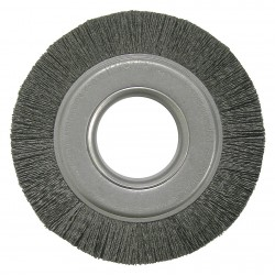 Weiler - 20510 - Arbor Hole Wire Wheel Brush, Synthetic, 8 Brush Dia.