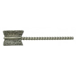 Weiler - 21020 - 1/2 Steel Single Spiral Tube Brush, Wire Dia. 0.003, Shank Size 0.094, EA 1