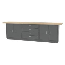 Greene Manufacturing - CBL-120-21-M - Cabinet Workbench, Butcher Block, 24 Depth, 36-3/4 Height, 120 Width