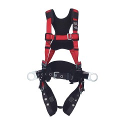 Protecta - 1191433 - PRO Full Body Harness with 420 lb. Weight Capacity, Red, M/L