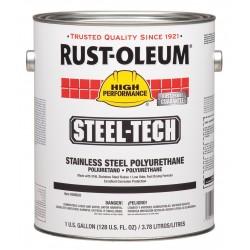 Rust-Oleum - 266820 - Metallic Gray Stainless Steel Polyurethane, Semi-Gloss Finish, 275 to 550 sq. ft. Coverage, Size: 1