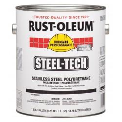 Rust-Oleum - 266822 - Metallic Gray Stainless Steel Polyurethane, Semi-Gloss Finish, 275 to 550 sq. ft. Coverage, Size: 1
