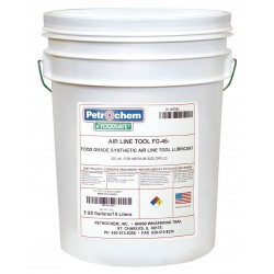 Petrochem - FOODSAFE AIRLINE TOOL FG-46-005 - Air Tool Lubricant, 5 gal. Container Size