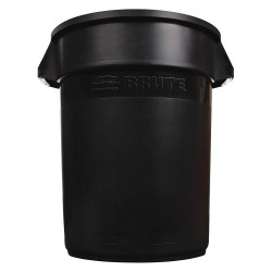 Rubbermaid - 1779738 - Rubbermaid Commercial Brute 55-Gallon Container Lid - Round - Plastic - 3 / Carton - Black