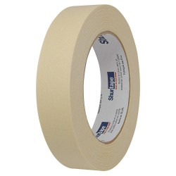 Shurtape - CP 101 - Masking Tape, 55m x 24mm, Natural, 4.90 mil, Package Quantity 36