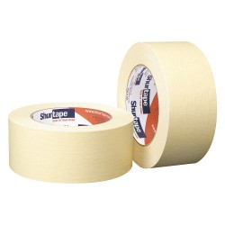 Shurtape - CP 102 - Painters Masking Tape, 55m x 48mm, Yellow, 5.40 mil, Package Quantity 24