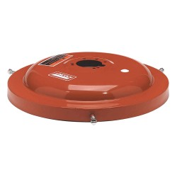 Lincoln Industrial - 46007 - Drum Cover, 16 gal., Steel, Red