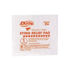 First Aid Only - G326-GR - Sting Relief Wipes, White, 50/Box