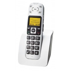 ClearSounds - CS-A400 - ClearSounds A400 DECT 6.0 Cordless Phone - White - Cordless - 1 x Phone Line - Speakerphone