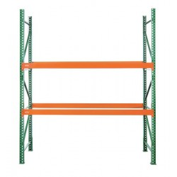 Husky Rack and Wire - 184809643120S - 126W x 48 D x 96H Steel Pallet Rack Starter Unit, 19, 380 lb. with Beams Evenly Spaced at 36