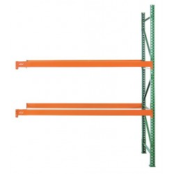 Husky Rack and Wire - 184812043096A - 99W x 48 D x 120H Steel Pallet Rack Add-On Unit, 19, 380 lb. with Beams Evenly Spaced at 36
