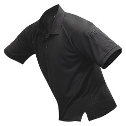 Fechheimer - VTX4000BKP - Mens Tactical Polo, Black, Shrt Sleeve, 2XL