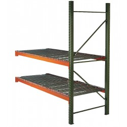 Husky Rack and Wire - 184812043096DA - 99W x 48 D x 120H Steel Pallet Rack Add-On Unit, 19, 380 lb. with Beams Evenly Spaced at 36