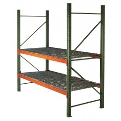 Husky Rack and Wire - 184214443108DS - 114W x 42 D x 144H Steel Pallet Rack Starter Unit, 19, 380 lb. with Beams Evenly Spaced at 36