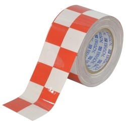 Brady - 121917 - Aisle Marking Tape, Checkered, Continuous Roll, 3 Width, 1 EA